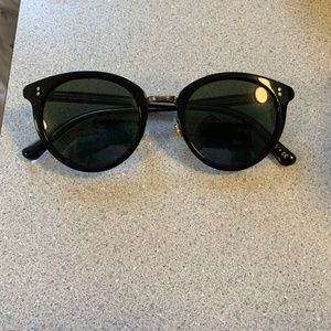 Oliver Peoples Black/Silver Sunglasses